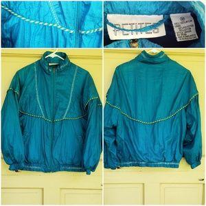 Vintage Petites Teal Windbreaker jacket